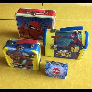 Set of 4 Spider-Man Lunch Boxes